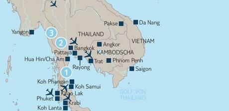 Thailand Karte Welt.Thailand Rundreisen